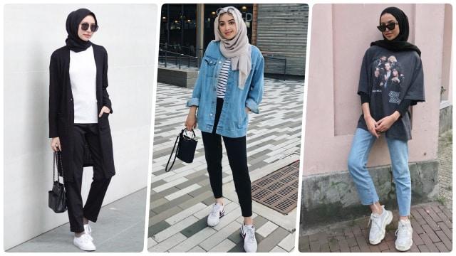 Rekomendasi OOTD Hijab Celana Jeans Boyfriend Super Stylish